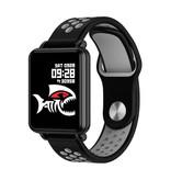 COLMI Land 1 Smartwatch Smartband Smartphone Fitness Sport Activity Tracker Horloge OLED iOS Android Grijs Two-Tone Bandje