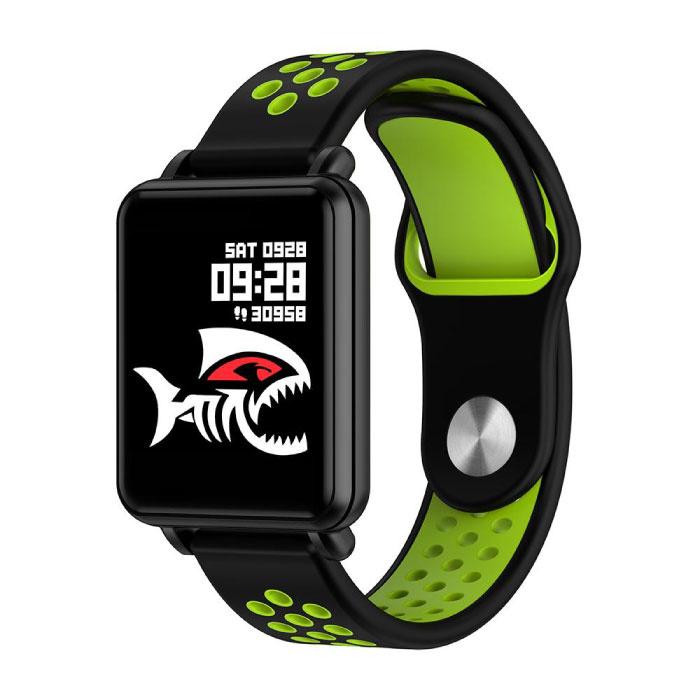 Pays 1 montre intelligente Smartband Smartphone Fitness Sport activité Tracker montre OLED iOS Android iPhone Samsung Huawei bracelet bicolore vert