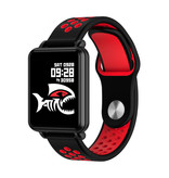 COLMI Country 1 Smartwatch Smartband Smartphone Watch OLED iOS Android Red Two-Tone Strap
