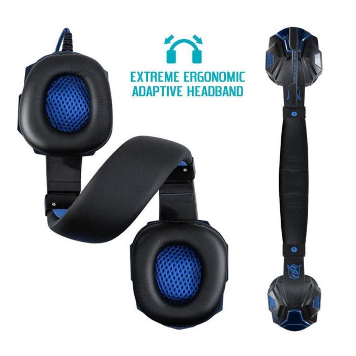 EastVita PC780  Gaming Koptelefoon Headset Headphones Over Ear met Microfoon Blauw