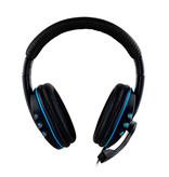 SOONHUA Wired  Gaming Koptelefoon Headset Headphones Over Ear met Microfoon Blauw
