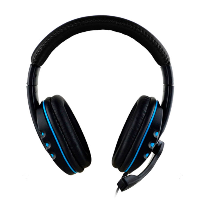 SOONHUA Wired Gaming Headphones Headset Headphones Over Ear with Microphone Blue