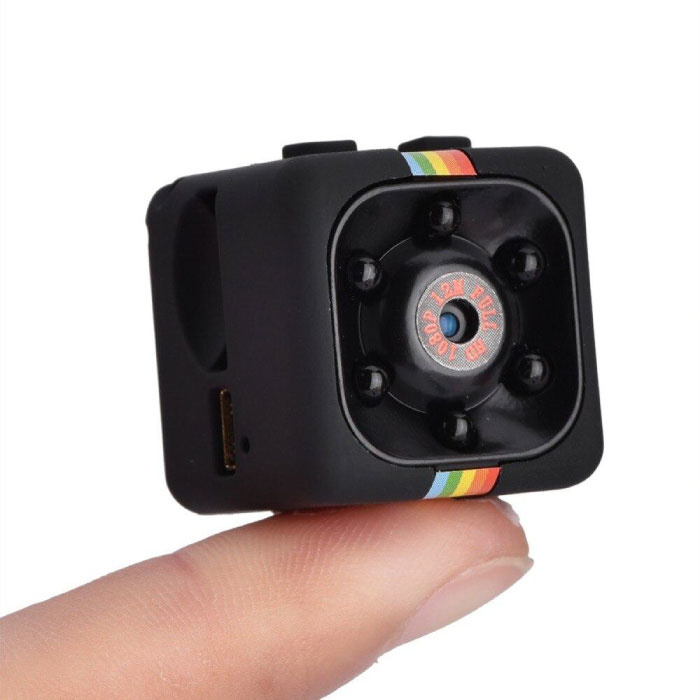 SQ11 Mini DVR Security Action Camera HD 1080p Infrared LED Motion Detector Black