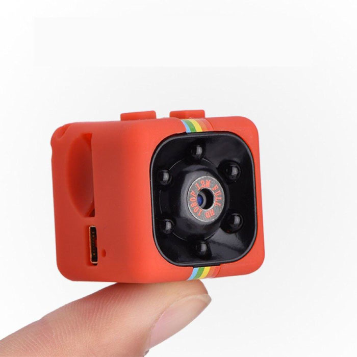 SQ11 Mini Camera HD 1080p Nightvision Motion Detector Rood