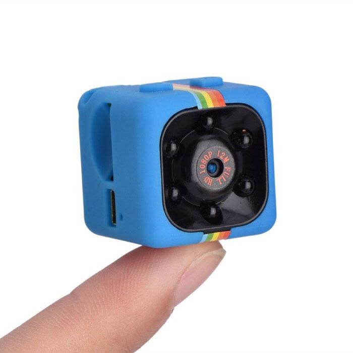 SQ11 Mini LED Caméra d'action de sécurité DVR HD détecteur de mouvement infrarouge Bleu