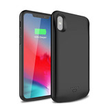 Stuff Certified® iPhone XR 5000mAh Slim Alimentation cas d'alimentation Chargeur de batterie Banque Housse Cover Black