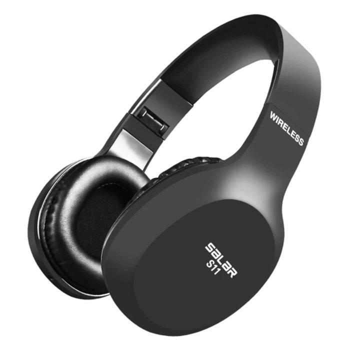 Casque d'écoute sans fil S11 Gaming HD Casque sur l'oreille avec microphone
