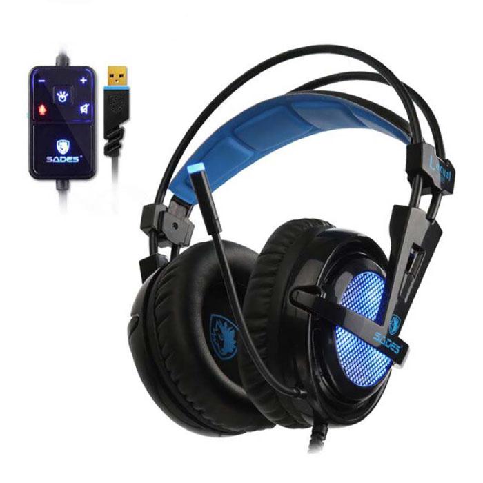 Locust Plus 7.1 Surround-Gaming-Kopfhörer Headset-Kopfhörer mit Mikrofon