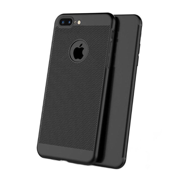iPhone 8 - Ultra Slanke Case Warmteafvoer Cover Cas Hoesje Zwart