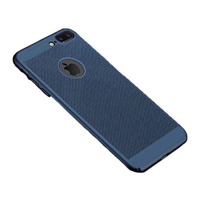 iPhone 8 Plus - Ultra Slanke Case Warmteafvoer Cover Cas Hoesje Blauw