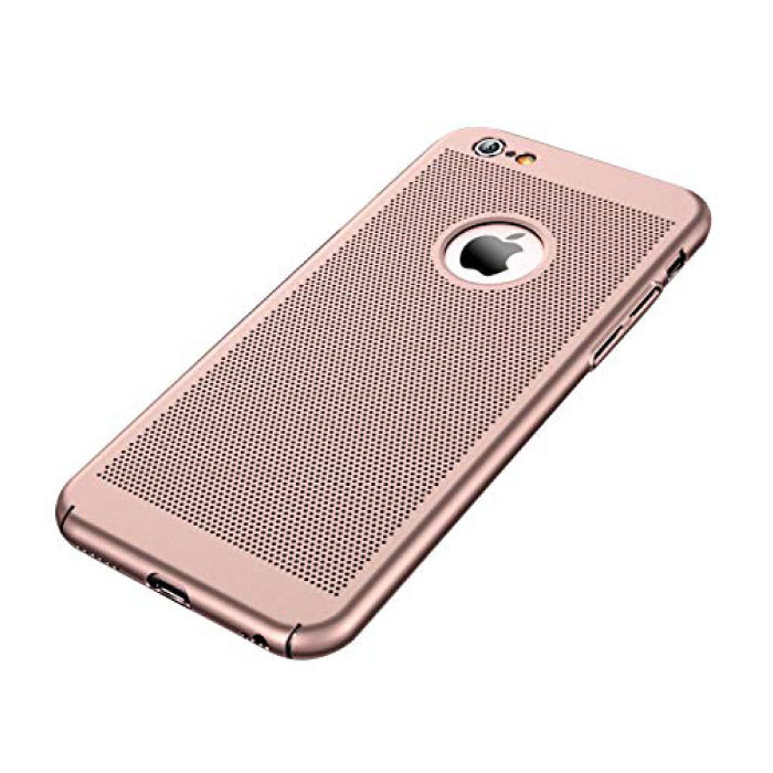 iPhone XS - Ultra Slanke Case Warmteafvoer Cover Cas Hoesje Rose Gold