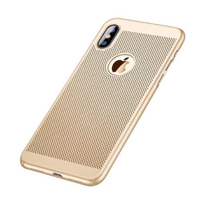 iPhone XS - Ultra Slanke Case Warmteafvoer Cover Cas Hoesje Goud