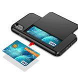 VOFOLEN iPhone 7 Plus - Wallet Card Slot Cover Case Hoesje Business Blauw