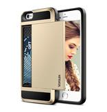 VOFOLEN iPhone 8 - Wallet Card Slot Cover Case Business Gold