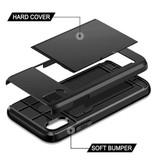 VOFOLEN iPhone 8 Plus - Étui portefeuille avec étui pour cartes à puce Business Black