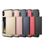 VOFOLEN iPhone XR - Wallet Card Slot Cover Case Business Red