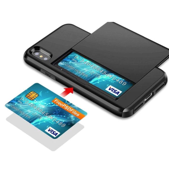 VOFOLEN iPhone XS - Wallet Card Slot Cover Case Hoesje Business Rood