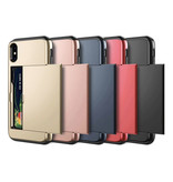 VOFOLEN iPhone XS Max - Etui portefeuille avec fente pour carte bleu business