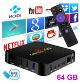 Stuff Certified ® Lecteur multimédia MX10 Pro 6K TV Box Android 9.0 Kodi - 4 Go de RAM - Stockage de 64 Go