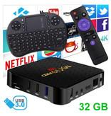 Stuff Certified ® MX10 Pro 6K TV Box Media Player Android 9.0 Kodi - 4GB RAM - 32GB Storage + Wireless Keyboard