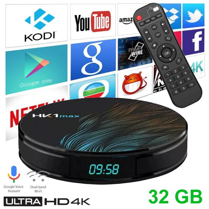 HK1 Max 4K TV Box Mediaspeler Android Kodi - 4GB RAM - 32GB Opslagruimte