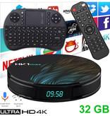 Stuff Certified® HK1 Max 4K TV Box Mediaspeler Android Kodi - 4GB RAM - 32GB Opslagruimte + Draadloos Toetsenbord