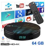 Stuff Certified ® Lecteur multimédia HK1 Max 4K TV avec Android Kodi - 4 Go de RAM - Stockage de 64 Go