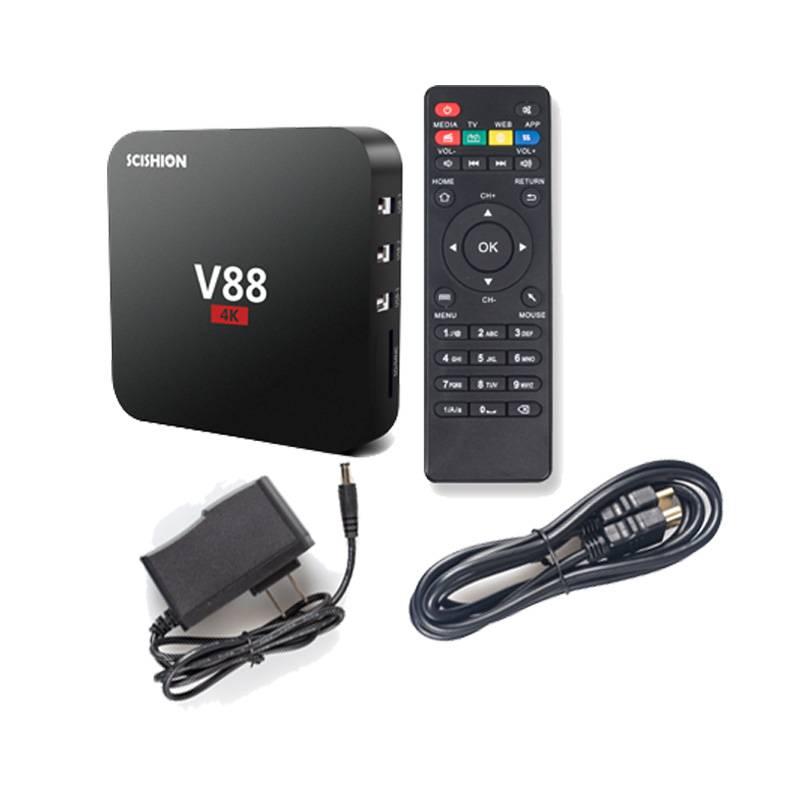 Stuff Certified ® V88 4K TV Box Media Player Android Kodi - 1GB RAM - 8GB Storage + Wireless Keyboard