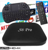 Stuff Certified® S6 Pro 4K TV Box Mediaspeler Android Kodi - 2GB RAM - 16GB Opslagruimte + Draadloos Toetsenbord