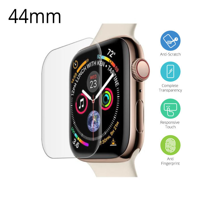 44mm Tempered Glass Clear Screen Protector voor iWatch Series 4/5