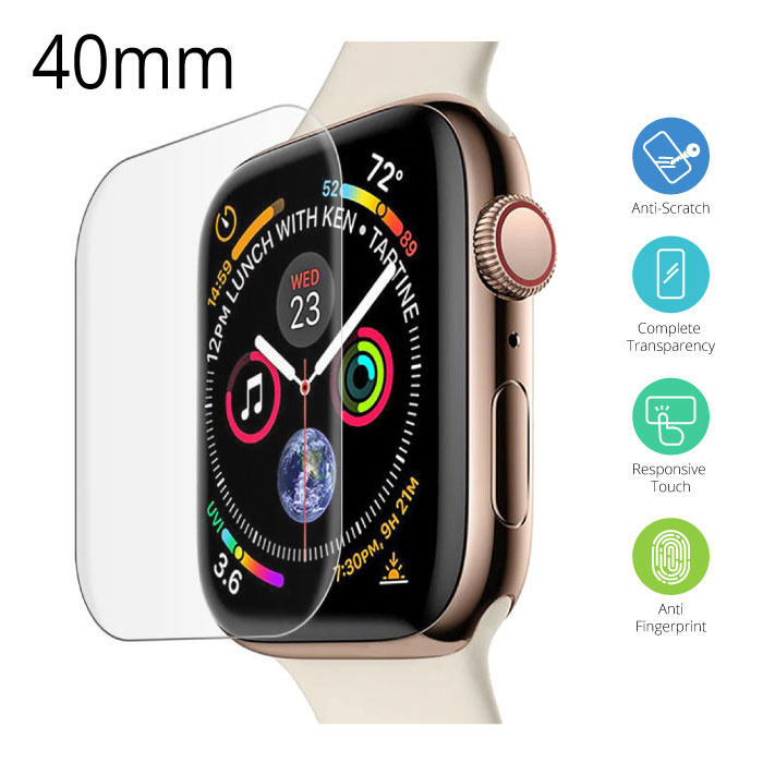 40mm Tempered Glass Clear Screen Protector voor iWatch Series 4