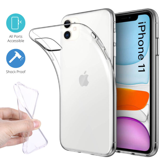 Transparent Clear Case Cover Silicone TPU Case iPhone 11