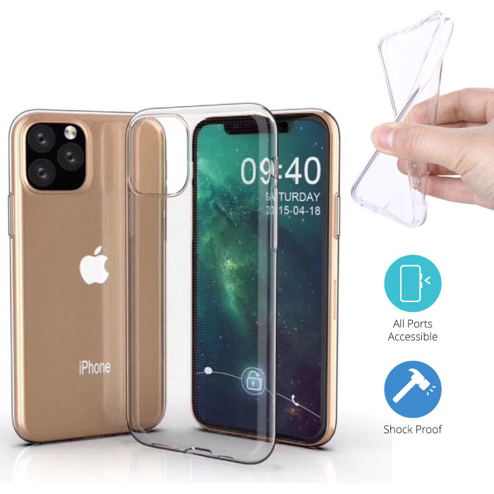 Transparant Clear Case Cover Silicone TPU Hoesje iPhone 11 Pro