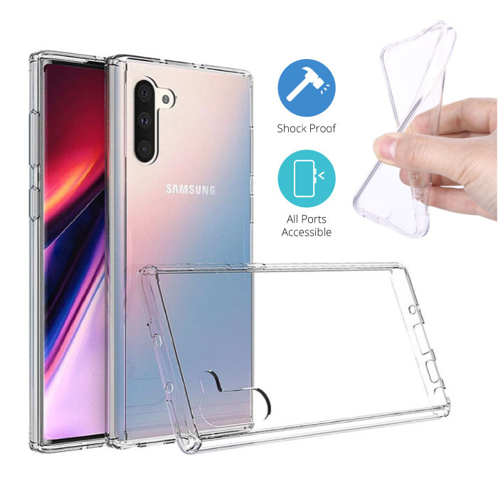 Transparant Clear Case Cover Silicone TPU Hoesje Samsung Galaxy Note 10