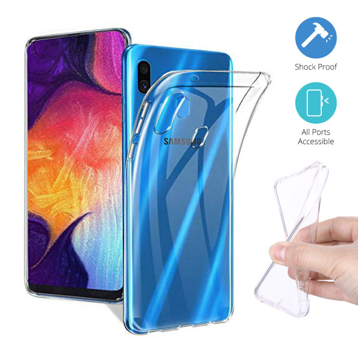 Transparant Clear Case Cover Silicone TPU Hoesje Samsung Galaxy A50