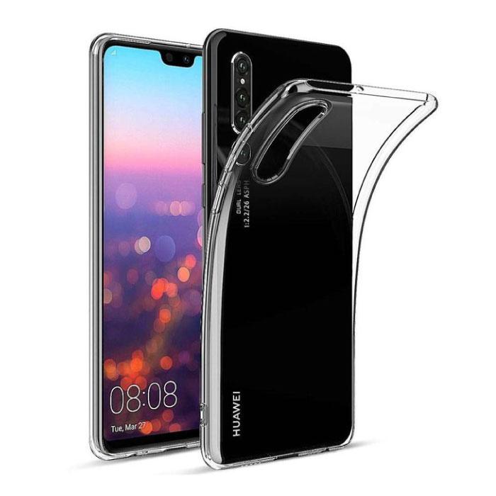Huawei P30 Lite Transparent Clear Case Cover Silicone TPU Case