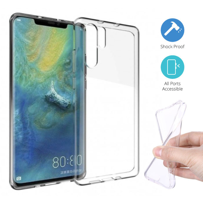 Transparant Clear Case Cover Silicone TPU Hoesje Huawei P30 Pro