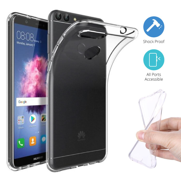 Transparent Clear Case Cover Silicone TPU Case Huawei P Smart