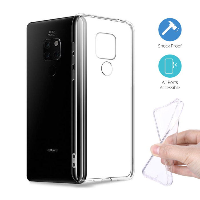 Transparant Clear Case Cover Silicone TPU Hoesje Huawei Mate 20 Pro