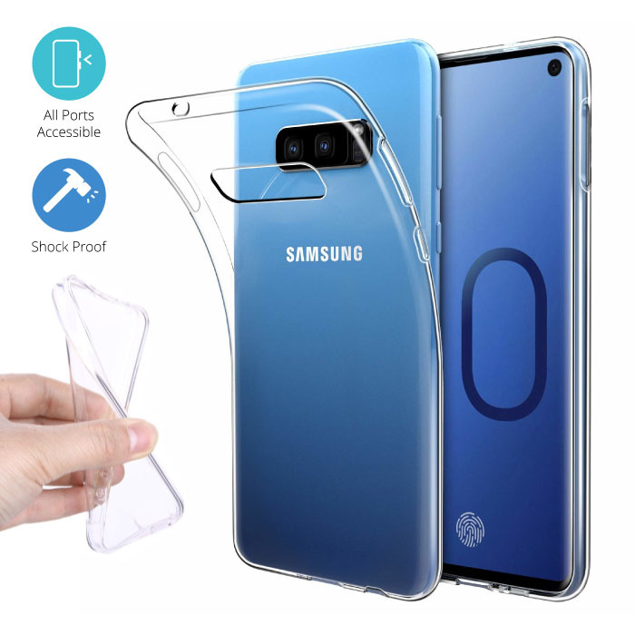 Transparant Clear Case Cover Silicone TPU Hoesje Samsung Galaxy S10e