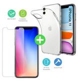 Stuff Certified® iPhone 11 Transparent écran TPU + protecteur en verre trempé