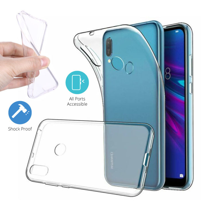 Stuff Certified® Huawei Y6 2019 Transparant TPU Hoesje + Screen Protector Tempered Glass