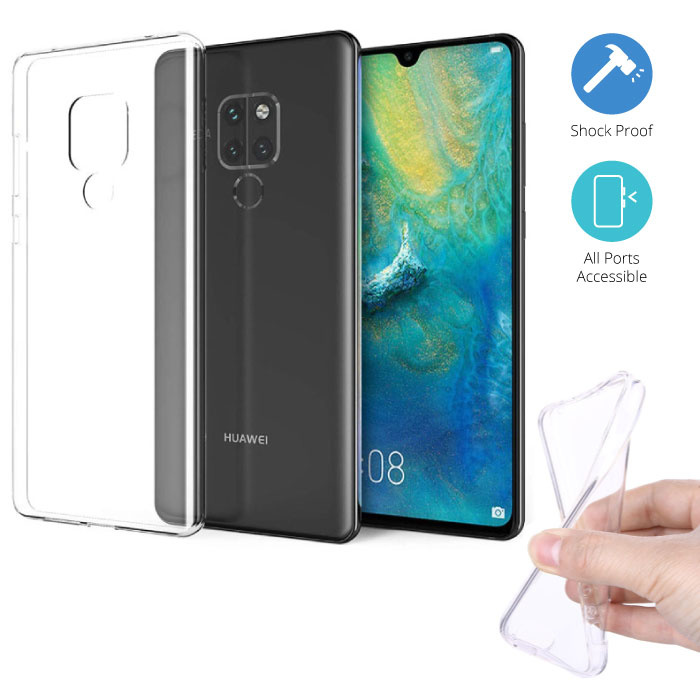 Stuff Certified® Huawei Mate 20 Transparant TPU Hoesje + Screen Protector Tempered Glass