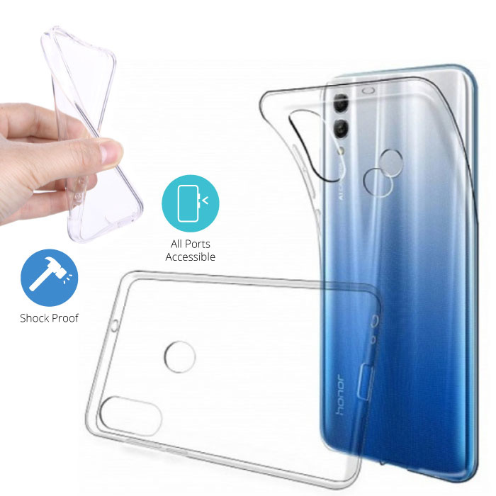 Transparent Clear Case Cover Silicone TPU Case Huawei Y7 2019