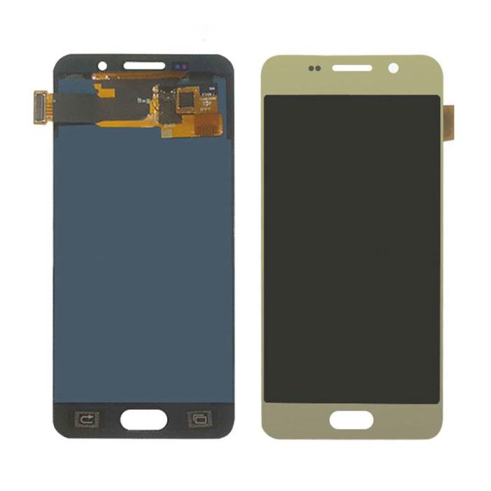 Samsung Galaxy A3 2016 A310 Bildschirm (Touchscreen + AMOLED + Teile) AAA + Qualität - Gold
