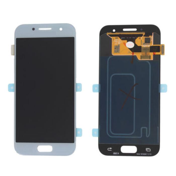 Samsung Galaxy A3 2017 A320 Bildschirm (Touchscreen + AMOLED + Teile) A + Qualität - Blau