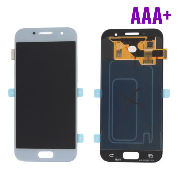 Samsung Galaxy A3 2017 A320 Scherm (Touchscreen + AMOLED + Onderdelen) AAA+ Kwaliteit - Blauw