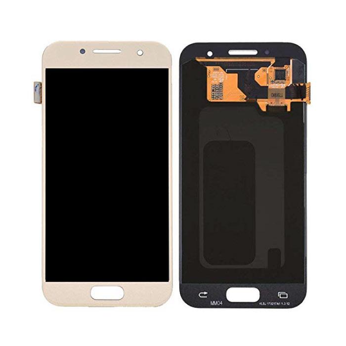 Samsung Galaxy A3 2017 A320 Bildschirm (Touchscreen + AMOLED + Teile) AAA + Qualität - Gold