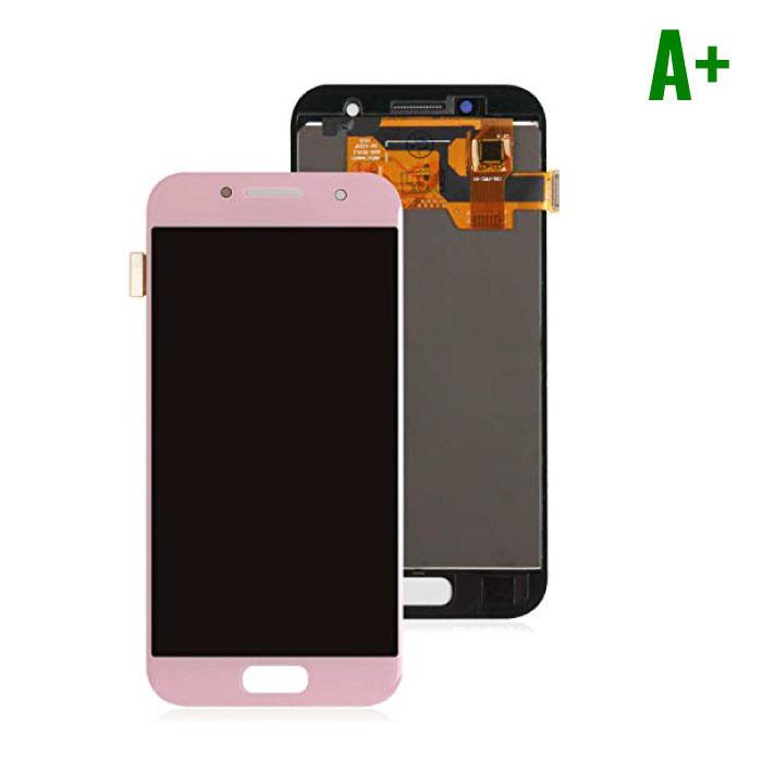 Samsung Galaxy A3 2017 A320 Scherm (Touchscreen + AMOLED + Onderdelen) A+ Kwaliteit - Roze
