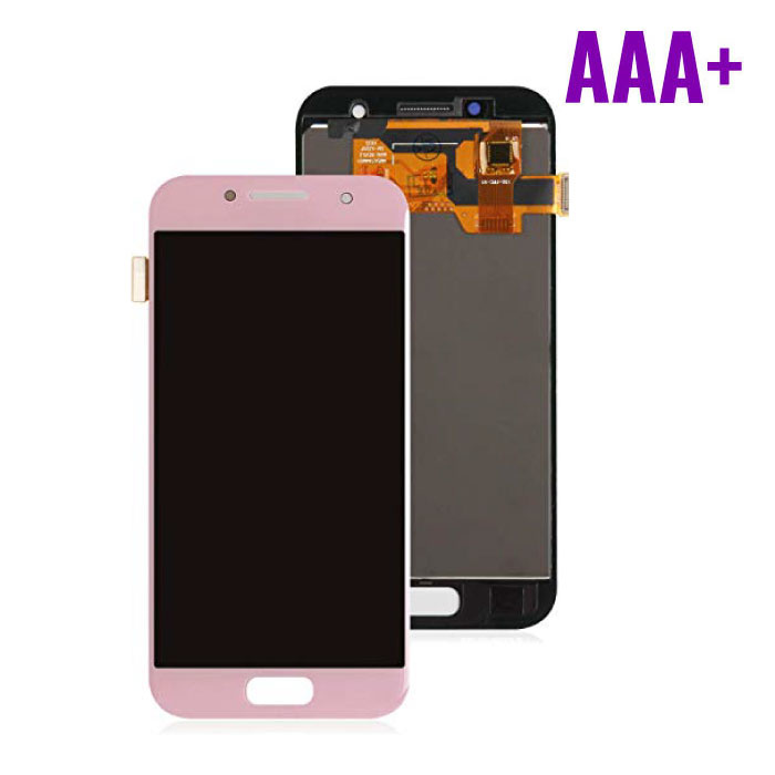 Samsung Galaxy A3 2017 A320 Scherm (Touchscreen + AMOLED + Onderdelen) AAA+ Kwaliteit - Roze